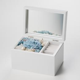 Special高級オルゴール ジュエリーボックス≪ブルー≫プリザーブドフラワー