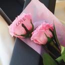 【バラ一輪】プリザーブドフラワーLOVEローズ(専用バッグ付き) ≪ピンク≫