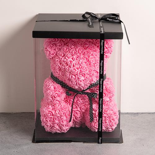 幸せを呼ぶ ローズ テディベア ピンク