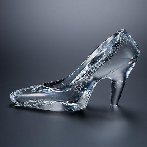 名入れクリスタルガラスの靴 メッセージ