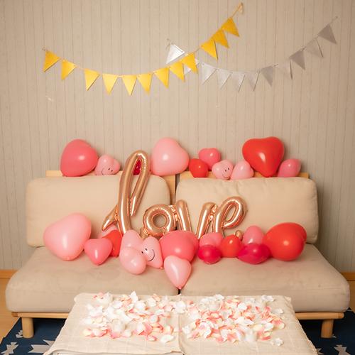 ハートバルーン装飾セット & Love