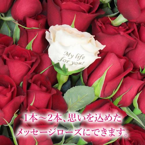 【プロポーズ】【メッセージローズ】赤バラ33本の生花花束 -生まれ変わっても愛するの意味を込めた-