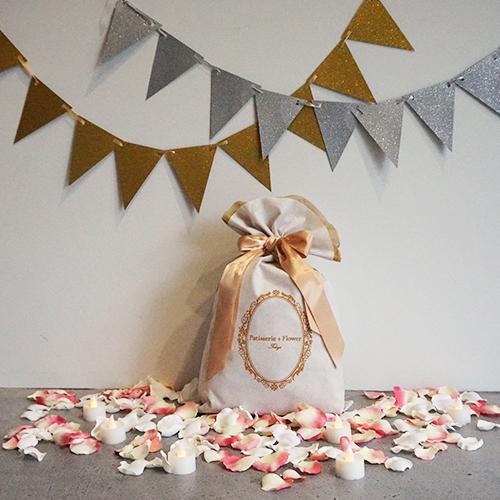 【車でサプライズ演出】花びらキャンドル+フラッグ装飾セット