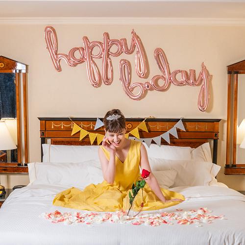 【ホテルでプロポーズ】Specialダイヤモンドローズ ショート メッセージフラワー+フラッグ装飾セ