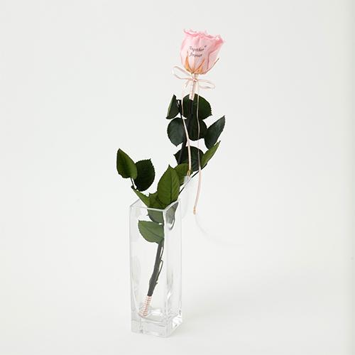 【バラ一輪】Specialダイヤモンドローズ ロングタイプ メッセージフラワー ピンク