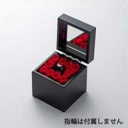 ミニ高級ブラックオルゴール リングケース≪レッド≫
