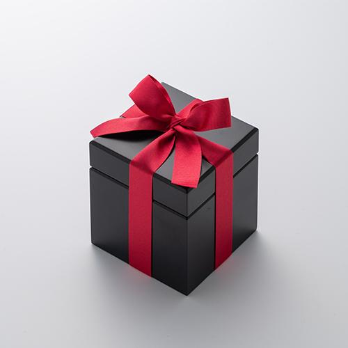 ミニ高級ブラックオルゴールボックス≪レッド≫
