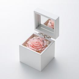 ミニ高級ホワイトオルゴールボックス≪ピンク≫