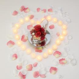 【サプライズ演出】LEDキャンドル24個と花びら200枚セット