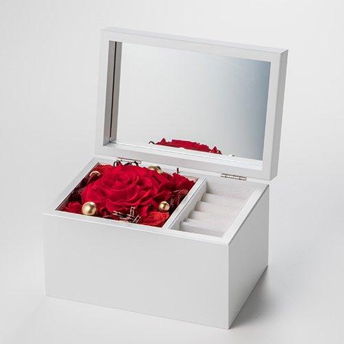 Special高級オルゴール ジュエリーボックス ≪ドラマティックレッド≫プリザーブド