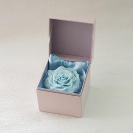【メッセージローズ】ROSE BOUTE ピンクBOX ≪ソーダブルー≫